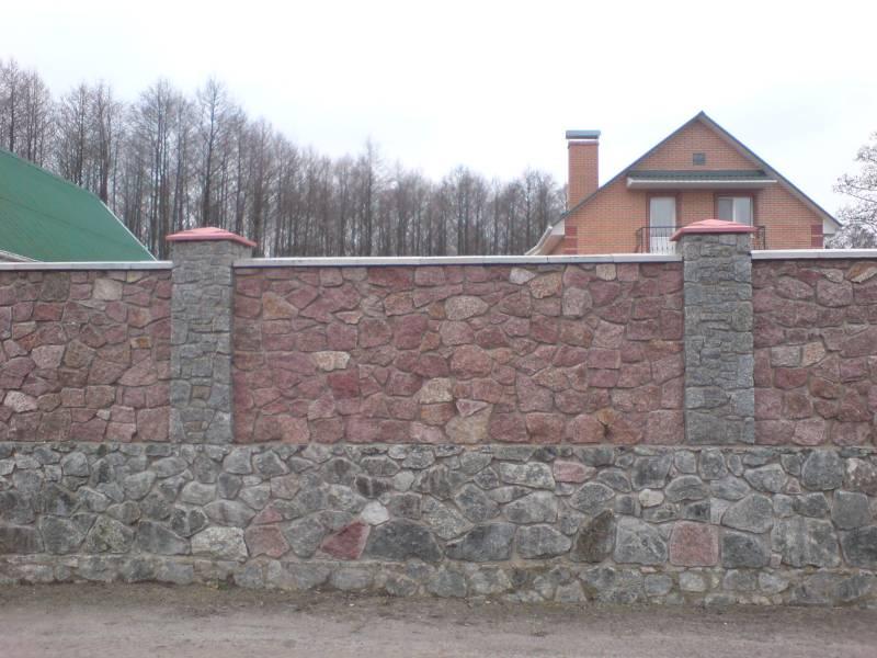 Заборы из камня, Киев