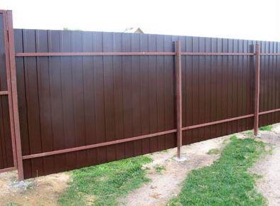 Забор из профнастила с точечным фундаментом. Цены, стоимость