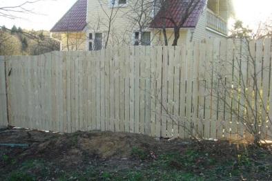 Деревянный забор. Цены, стоимость